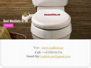 Get Premium Quality washlets
