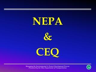 NEPA & CEQ