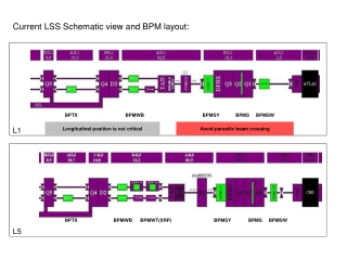 Current LSS Schematic view and BPM layout: