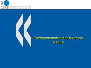 Entrepreneurship Measurement Manual