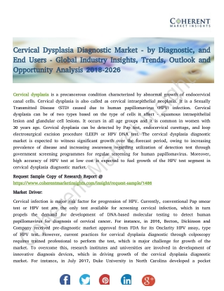 Cervical Dysplasia Diagnostic Market - by Diagnostic, and End Users - Global Industry Insights, Trends, Outlook and Oppo