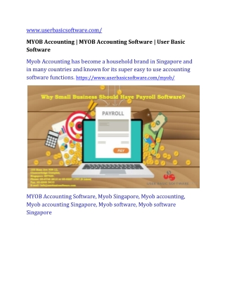 MYOB Accounting | MYOB Accounting Software