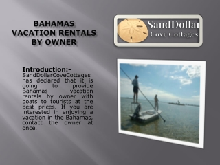 Bahamas vacation rentals by owner