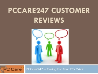 PCCare247 Customer Reviews And Complaints