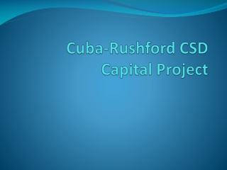 Cuba-Rushford CSD Capital Project
