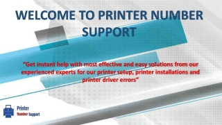 Printer Support Number - printernumbersupport.com
