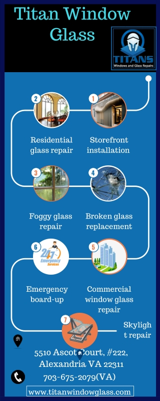 Emergency glass repair services at Titan window glass