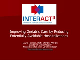 Improving Geriatric Care by Reducing Potentially Avoidable Hospitalizations
