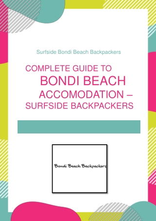 Complete Guide to Bondi Beach Accomodation - Surfside Backpackers