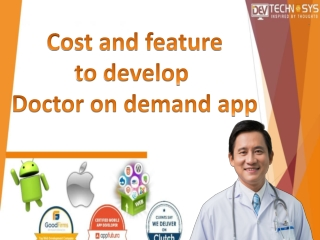 Cost and feature to develop Doctor on demand app