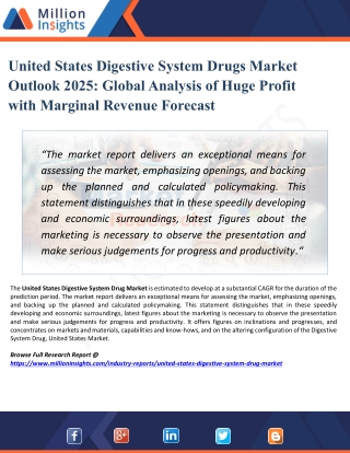 United States Digestive System Drugs Market Key Raw Materials, Price Trend, Industrial Chain Analysis by 2025