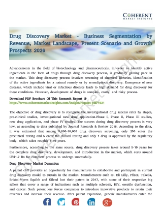 Drug Discovery Market - Global Industry Insights, Trends, Outlook, and Opportunity Analysis, 2018-2026