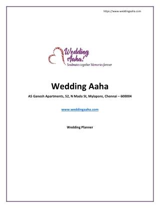 Wedding planner - wedding Aaha