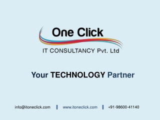 Web App Developed by Oneclick