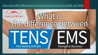 How Does EMS Different from Tens-Benefits and Uses of EMS and TENS