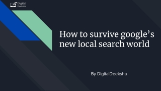 How to survive google's new local search world