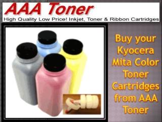 Buy your Kyocera Mita Color Toner Cartridges from AAA Toner