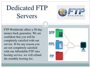Dedicated ftp Hosting