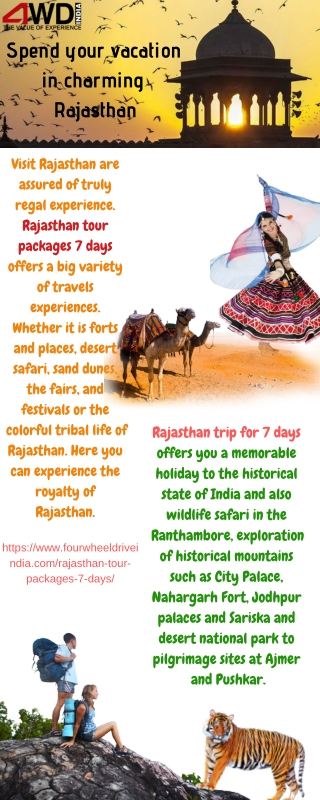 Spend your vacation in charming Rajasthan