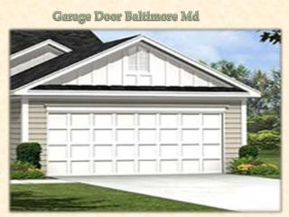 Garage Door Baltimore Md