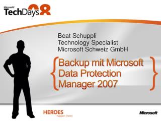 Backup  mit  Microsoft Data Protection Manager 2007