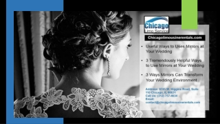 Useful Ways to Uses Mirrors at Your Wedding with Limo Service Chicago
