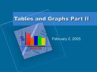 Tables and Graphs Part II