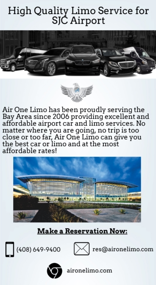 High Quality Limo Service for SJC Airport