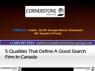 5 Qualities That Define a Good Search Firm in Canada