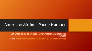 Get Cheap Flight to Chicago - Call American Airlines Phone Number- PDF