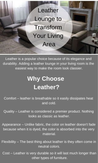 Popular Leather Lounges to Transform Your Living Room