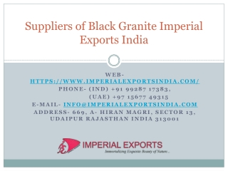 Suppliers of Black Granite Imperial Exports India