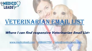 Veterinarian Lists | Veterinarian Email Lists