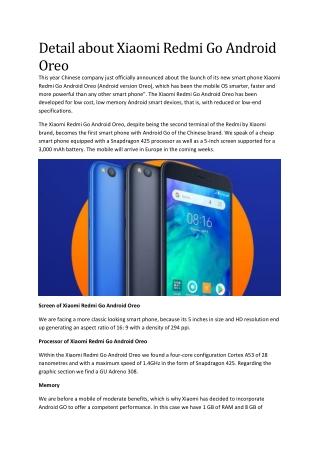 Detail about Xiaomi Redmi Go Android Oreo
