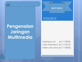 Jaringan Multimedia