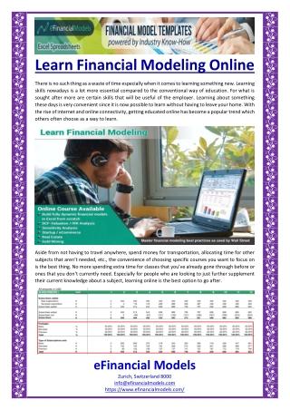 Learn Financial Modeling Online