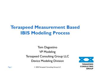 Teraspeed Measurement Based IBIS Modeling Process