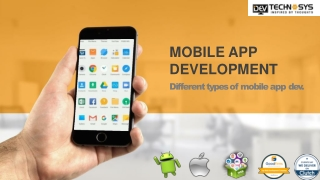Different type of Mobile App Development For your Business Application
