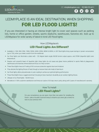 LED Flood Lights - Outdoor Lighting