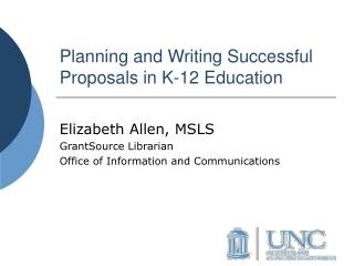 Planning and Writing Successful Proposals in K-12 Education