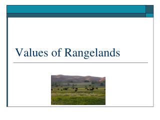 Values of Rangelands