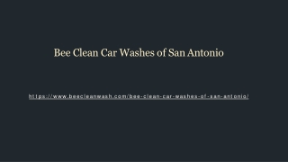 Bee Clean Car Washes of San Antonio
