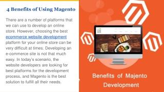 4 Benefits of using Magento for e-Commmerce Web Development