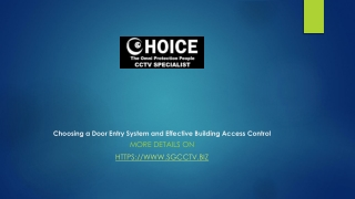 Choosing a door entry system and effective building access control