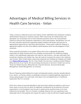 Medical Billing Services | Health Care Services