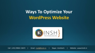 Ways To Optimize Your WordPress Website
