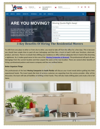 Are you looking for Office Movers company?