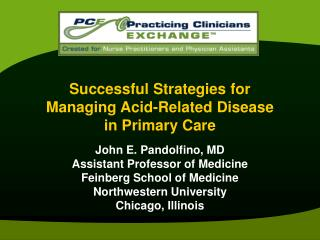 Successful Strategies for Managing Acid-Related Disease  in Primary Care