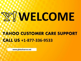 Contact Yahoo Customer care Number 1-877-336-9533