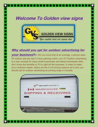 Billboard Printing Saskatchewan, Printing Signs Canada - www.gvsigns.ca